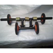 Тележка для гусеницы 500мм, пластиковые колеса, манжеты, 3 пружины, верхняя ось 520мм